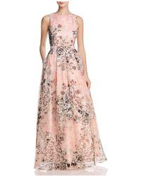 Eliza J - Organza Floral Gown - Lyst
