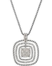 David Yurman - Chatelaine Pave Pendant Necklace - Lyst