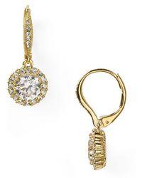 Nadri | Framed Round Cubic Zirconia Drop Earrings | Lyst