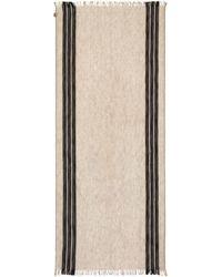 Emporio Armani - Striped Skinny Scarf - Lyst