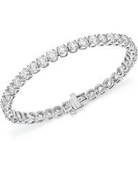 Bloomingdale's - Certified Diamond Tennis Bracelet In 14k White Gold, 8.0 Ct. T.w. - Lyst