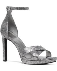 bf367a546516c MICHAEL Michael Kors - Women s Alexia Metallic High-heel Sandals - Lyst