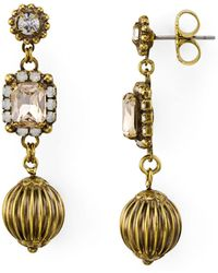 Sorrelli - Cluster & Sphere Linear Drop Earrings - Lyst