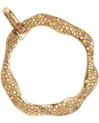 Antonini - 18k Rose Gold Anniversary Cognac Diamond Pendant - Lyst