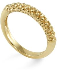 Lagos - 18k Gold Beaded Ring - Lyst
