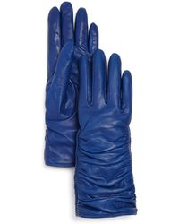Bloomingdale's - Leather Glove With Ruching - Lyst