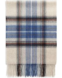 698686d4c80b1 Burberry Exploded Check Cashmere Scarf in Blue for Men - Lyst