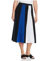 Marina Rinaldi - Alburno Colour Block Midi Skirt - Lyst