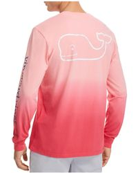 Vineyard Vines - Dip Dyed Two-tone Whale Pocket Tee - Lyst