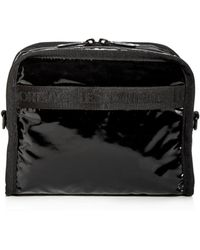 e55499bce04 LeSportsac - Taylor North south Faux Patent Leather Cosmetics Case - Lyst