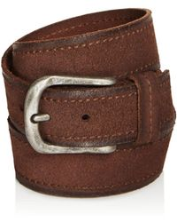 John Varvatos | Textured Suede Stitch Belt | Lyst