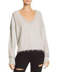 Nation Ltd - Darcy Boxy Distressed Sweater - Lyst