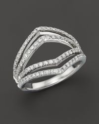 Bloomingdale's - Diamond Geometric Ring In 14k White Gold, .75 Ct. T.w. - Lyst
