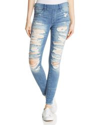 True Religion - Jennie Runway Legging Jeans In Washed Out Destroy - Lyst