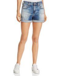 AG Jeans - Hailey Ex-boyfriend Roll-up Denim Shorts In 15 Years Undercool - Lyst