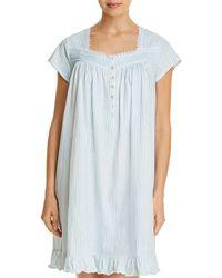 Eileen West - Striped Short Gown - Lyst