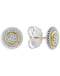 Lagos - Caviar Diamond Stud Earrings - Lyst