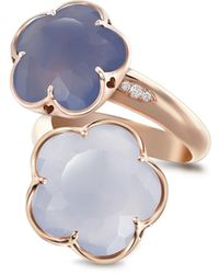 Pasquale Bruni - 18k Rose Gold Wrap Ring With Chalcedony And Diamonds - Lyst