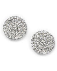 Bloomingdale's - Diamond Disc Stud Earrings In 14k White Gold, 1.0 Ct. T.w. - Lyst