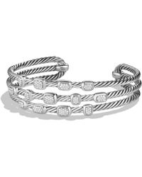 David Yurman | Confetti Narrow Cuff Bracelet With Diamonds | Lyst