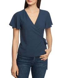 1.STATE - Flutter - Sleeve Wrap Top - Lyst