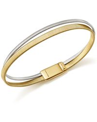Marco Bicego | 18k White And Yellow Gold Masai Two Row Bracelet | Lyst