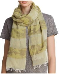 Aqua - Camo Striped Oblong Scarf - Lyst