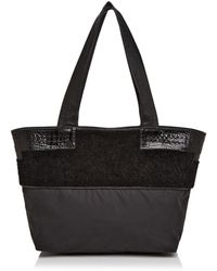 Elizabeth and James - Newspaper Shearling & Nylon Tote - Lyst