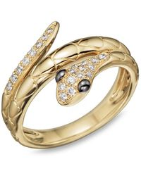 Bloomingdale's - Diamond Snake Ring In 14k Yellow Gold - Lyst