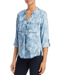Billy T - Tie - Dyed Roll - Sleeve Top - Lyst