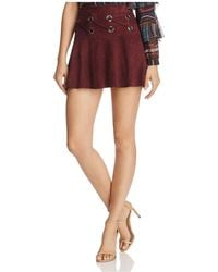Parker - Milos Lace-up Grommeted Skirt - Lyst