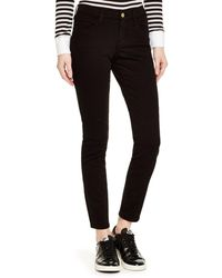 FRAME - Le Color Skinny Jeans In Film Noir - Lyst