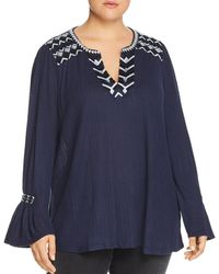 Lucky Brand - Embroidered & Textured Tunic - Lyst