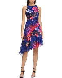 Donna Karan - Printed Ombré Dress - Lyst