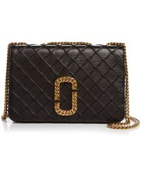 c1521abeb1c Marc Jacobs Mini Trouble Quilted Shoulder Bag in Black - Lyst
