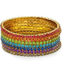 Aqua - Multicolor Layered Stretch Bracelets - Lyst