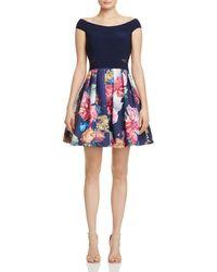 Aqua - Off-the-shoulder Illusion-inset Dress - Lyst