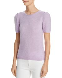 C By Bloomingdale's - Puff - Sleeve Cashmere Jumper - Lyst