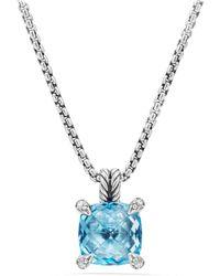 David Yurman - Chatelaine Pendant Necklace With Semiprecious Stone & Diamonds - Lyst
