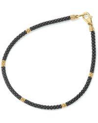 Lagos - Gold & Black Caviar Collection 18k Gold & Ceramic Five Station Bracelet - Lyst