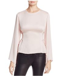 Vince Camuto - Bell Sleeve Lace-up Side Blouse - Lyst
