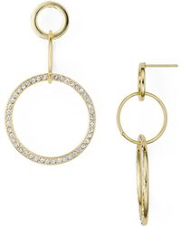 Aqua - Multi Hoop - Drop Earrings - Lyst