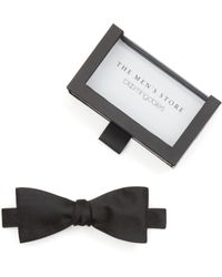 Bloomingdale's - Solid Satin Self-tie Bow Tie - Lyst