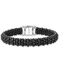 Lagos - Black Caviar Ceramic Bracelet With 18k Gold Stations - Lyst