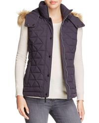 Marc New York - Thea Faux Fur Trim Pyramid Vest - Lyst