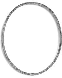 """John Hardy - Sterling Silver Classic Chain Extra Small Necklace, 18"""" - Lyst"""