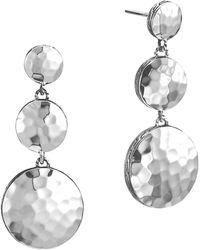 John Hardy - Palu Sterling Silver Triple Drop Linear Earrings - Lyst