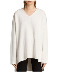 AllSaints - Clea Slouchy V-neck Sweater - Lyst