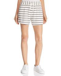 Splendid - Striped Drawstring Shorts - Lyst