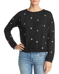 Honey Punch - Embroidered Skull Sweatshirt - Lyst